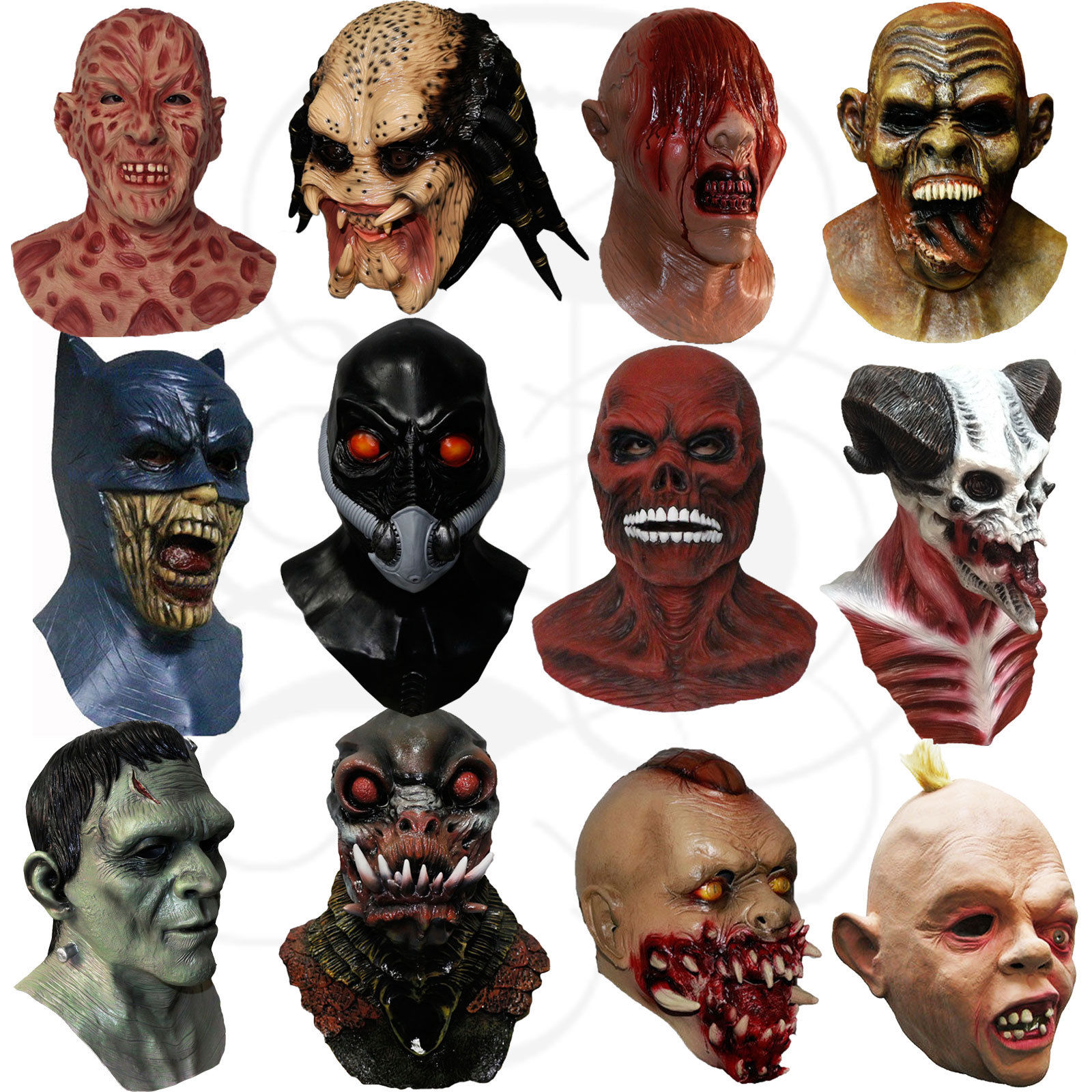 Latex Horror Vampire Zombies Goonies Halloween Masks | Eco ...